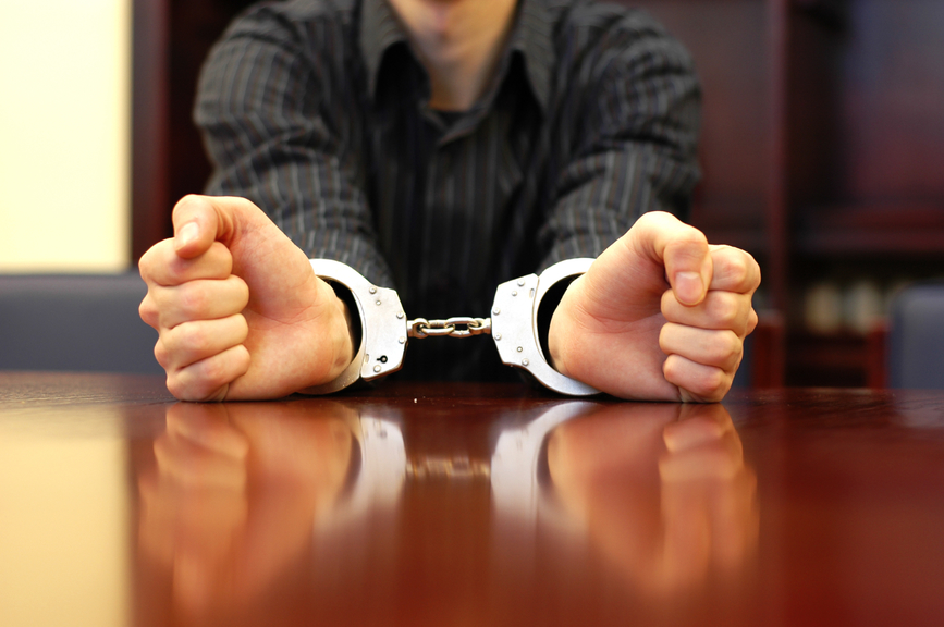 Man with handcuffs